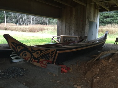 Haida Canoe Carving at the Heritage Centre, Skidegate (credit: Lauren McWhinnie)