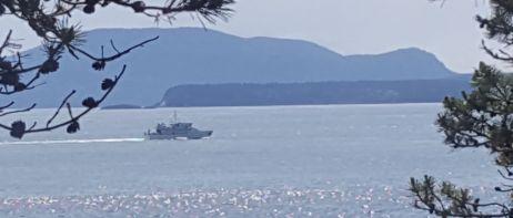 Small navy vessel.